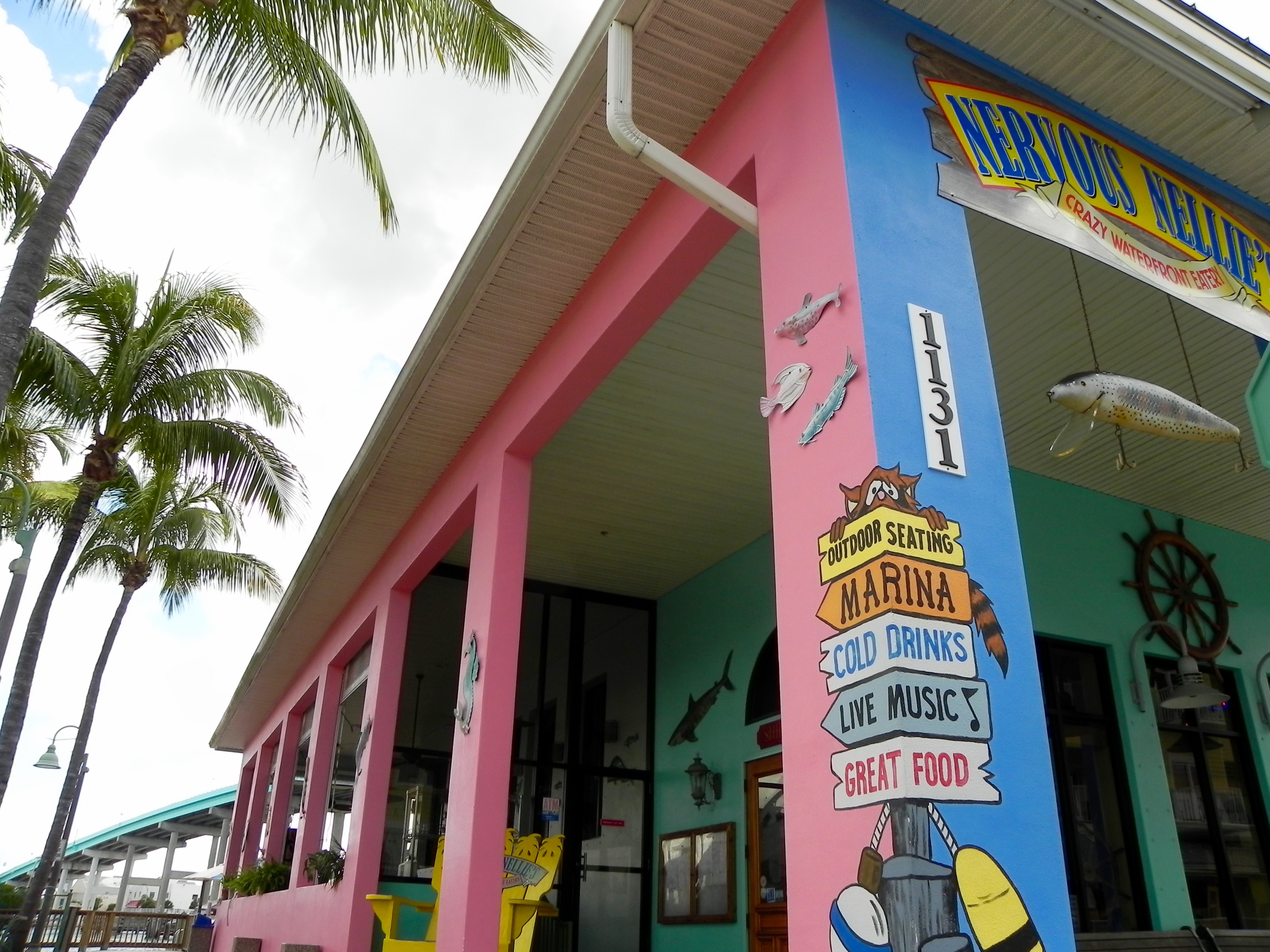A colorful storefront property on Fort Myers Beach, Florida