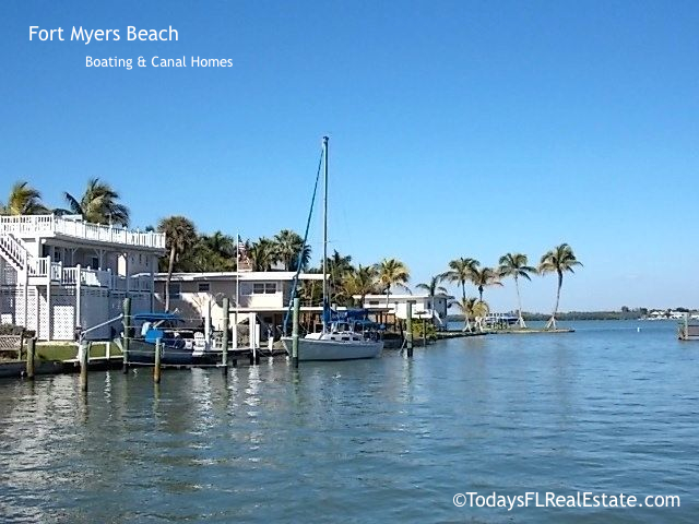 Fort Myers Beach Boating Communities, Canal Homes, Canal homes for sale, Florida Boating